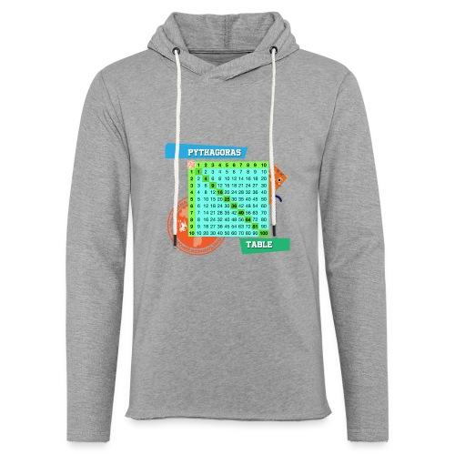 Pythagoras table - Lett unisex hette-sweatshirt