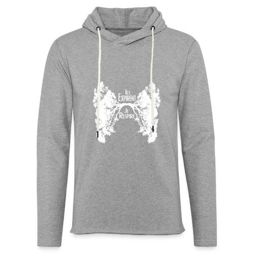 Oxygène blanc - Sweat-shirt à capuche léger unisexe