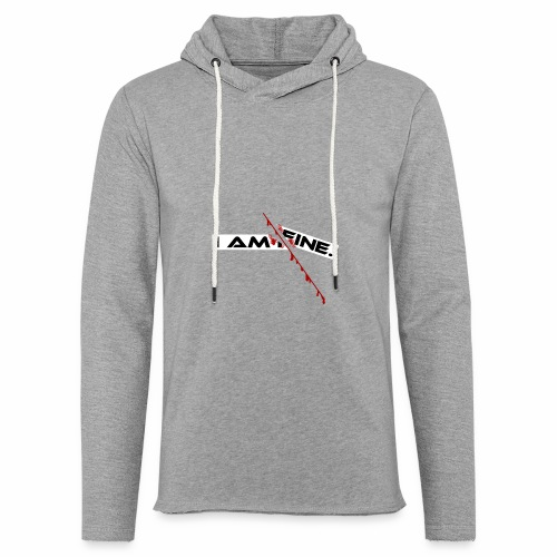 I AM FINE Design mit Schnitt, Depression, Cut - Leichtes Kapuzensweatshirt Unisex