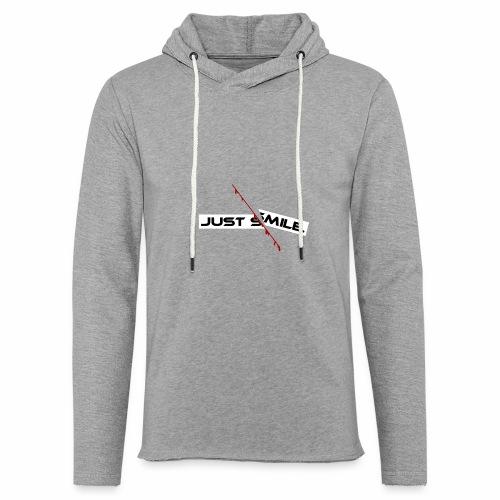 JUST SMILE Design mit blutigem Schnitt, Depression - Leichtes Kapuzensweatshirt Unisex