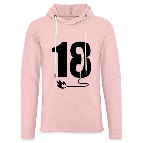 18 - Sweat-shirt à capuche léger unisexe