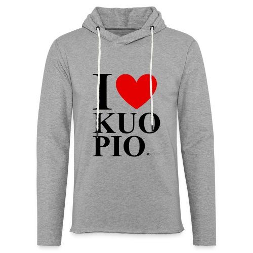 I LOVE KUOPIO ORIGINAL (musta) - Kevyt unisex-huppari