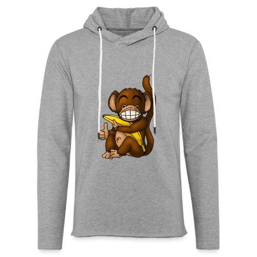 Super Fröhlicher Affe - Leichtes Kapuzensweatshirt Unisex