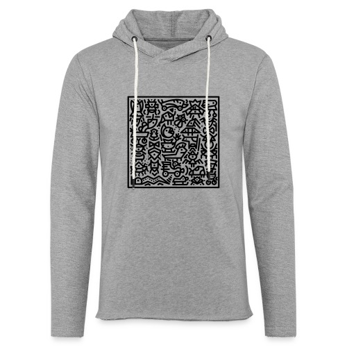 Twiggles Mosaic black - Leichtes Kapuzensweatshirt Unisex