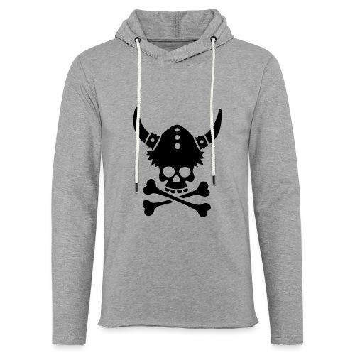 Totenkopf mit Wikingerhelm - Leichtes Kapuzensweatshirt Unisex