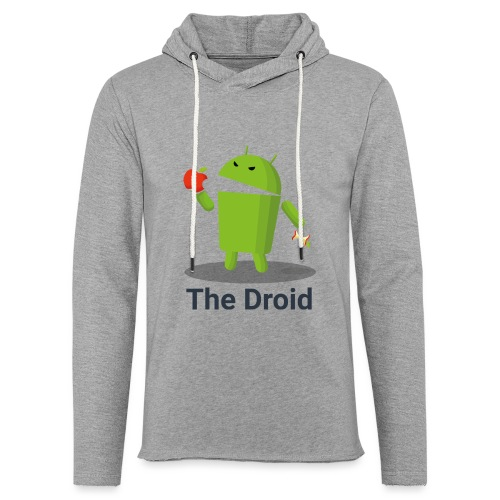 The Droid eats apple - Felpa con cappuccio leggera unisex