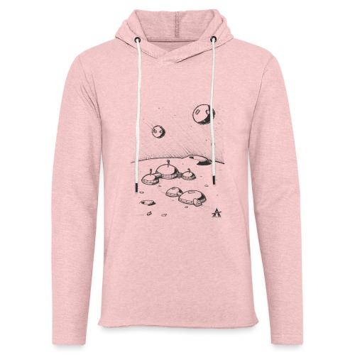 Moonbase Sketch ligne - Sweat-shirt à capuche léger unisexe