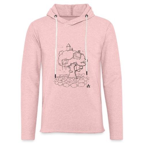 Cabane dans un arbre Sketch Line - Sweat-shirt à capuche léger unisexe