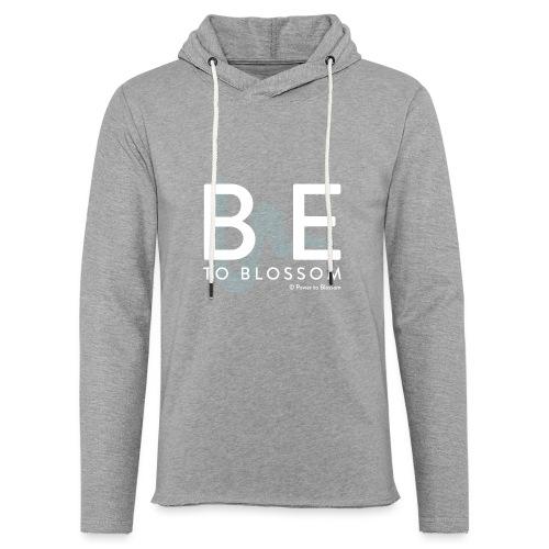 be to blossom swoosh (white) - Light Unisex Sweatshirt Hoodie