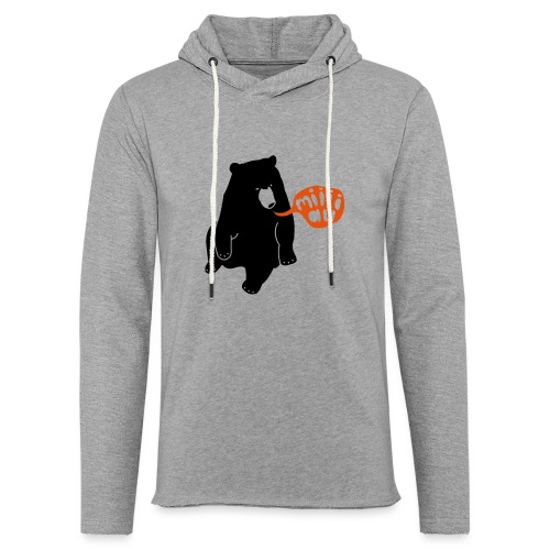 Bär sagt Miau - Leichtes Kapuzensweatshirt Unisex