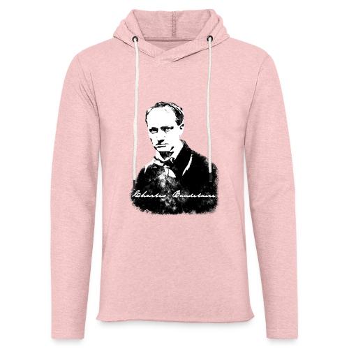 Baudelaire (fond blanc) + signature - Sweat-shirt à capuche léger unisexe