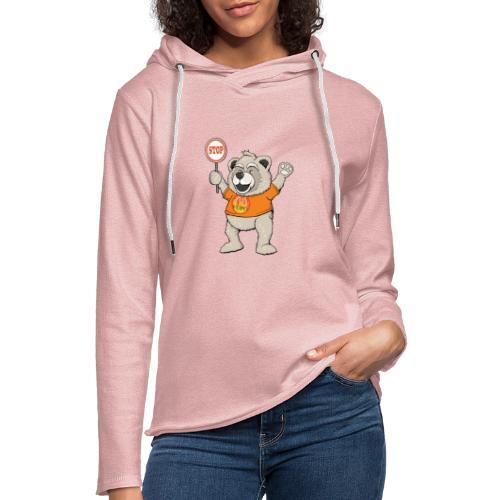 FUPO der Bär. Druckfarbe bunt - Leichtes Kapuzensweatshirt Unisex