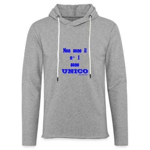 Unico #FRASIMTIME - Felpa con cappuccio leggera unisex