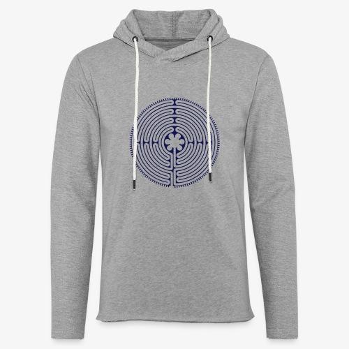 Labyrinth von Chartres - Leichtes Kapuzensweatshirt Unisex