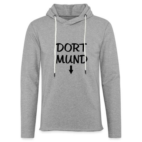 Dortmund Witzig Weiß - Leichtes Kapuzensweatshirt Unisex