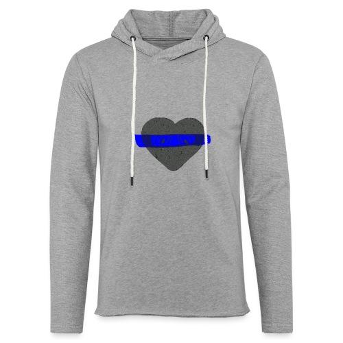 serduszko blu - Lekka bluza z kapturem
