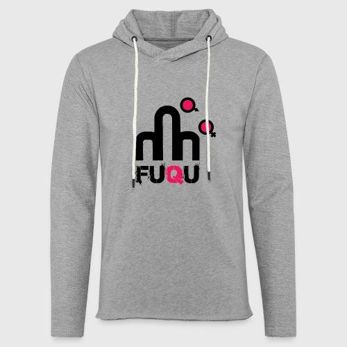 T-shirt FUQU logo colore nero - Felpa con cappuccio leggera unisex