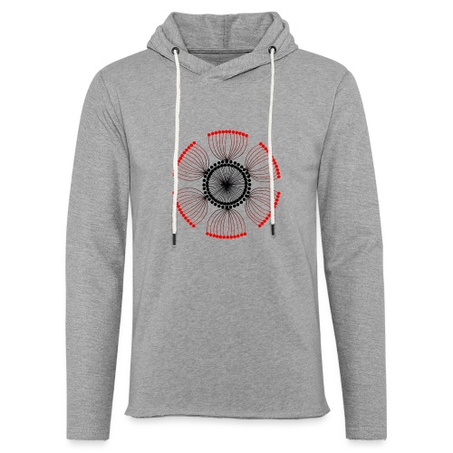Red Poppy Seeds Mandala - Light Unisex Sweatshirt Hoodie