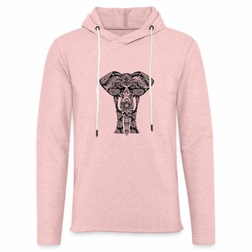 Ażurowy słoń - Lekka bluza z kapturem