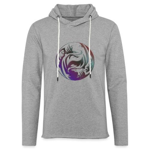 DRAGON Yin & Yang - Leichtes Kapuzensweatshirt Unisex