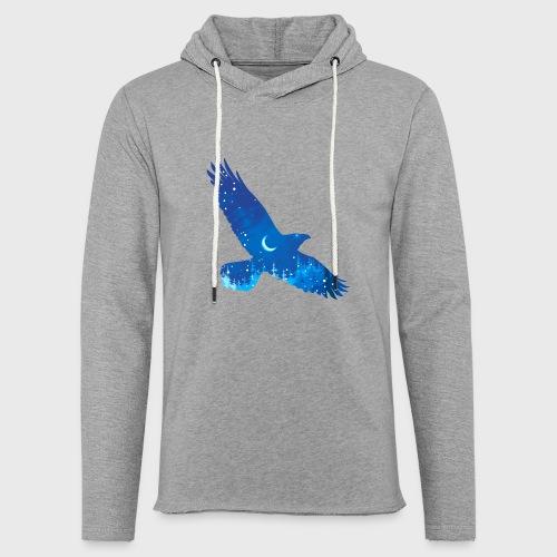 Oiseau Bleu d'hiver - Sweat-shirt à capuche léger unisexe
