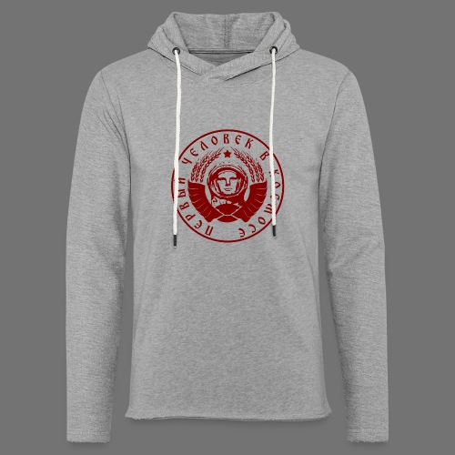 Cosmonaut 1c red - Light Unisex Sweatshirt Hoodie
