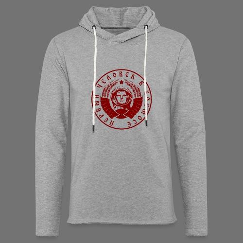 Cosmonaut 1c red - Light Unisex Sweatshirt Hoodie