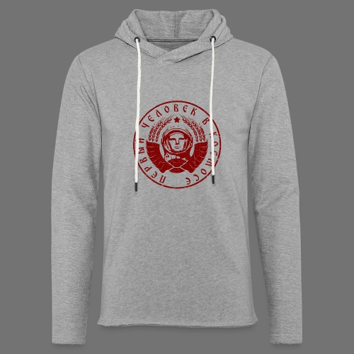 Cosmonaut 1c red (oldstyle) - Light Unisex Sweatshirt Hoodie