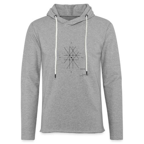 mathematique du centre_de_lunivers - Sweat-shirt à capuche léger unisexe