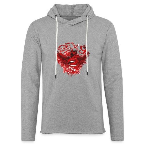 SEXY Lips heart Wings - Sexy Lippen Herz Flügel - Leichtes Kapuzensweatshirt Unisex