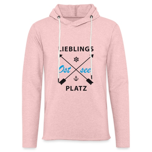Lieblingsplatz Ostsee - Leichtes Kapuzensweatshirt Unisex