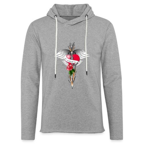 L' Amour - Die Liebe in Flammen - Leichtes Kapuzensweatshirt Unisex