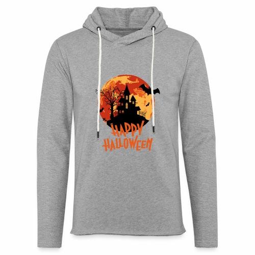 Bloodmoon Haunted House Halloween Design - Leichtes Kapuzensweatshirt Unisex