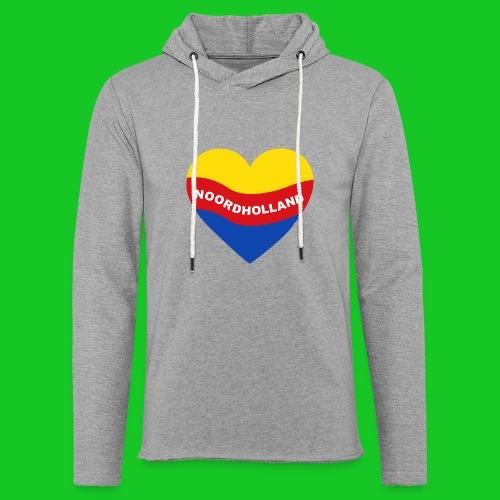 Love Noord Holland Hart.png - Lichte hoodie unisex