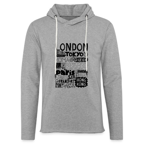 Villes du monde - Sweat-shirt à capuche léger unisexe