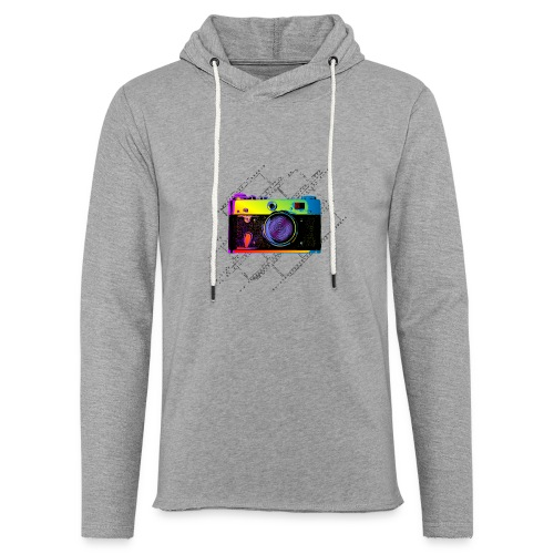 Vintage Rangefinder Film Camera Pop Art Style - Light Unisex Sweatshirt Hoodie