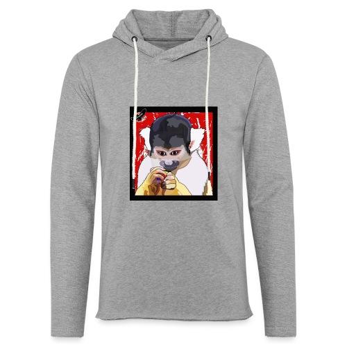 'Clever Monkey 2' by BlackenedMoonArts, w. logo - Let sweatshirt med hætte, unisex
