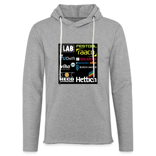 tshirt 2 rueck kopie - Light Unisex Sweatshirt Hoodie