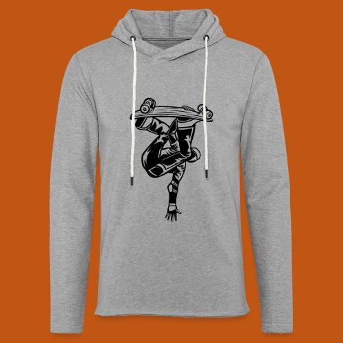 Skater / Skateboarder 03_schwarz - Leichtes Kapuzensweatshirt Unisex