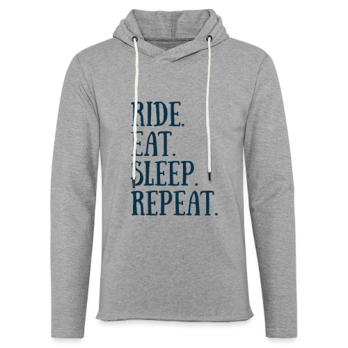 RIDE EAT SLEEP REPEAT - Sweat-shirt à capuche léger unisexe