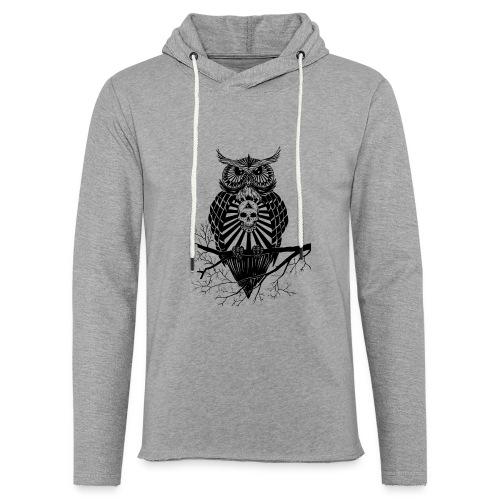 Hibou Psychédélique - Sweat-shirt à capuche léger unisexe