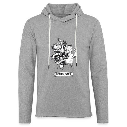 Illu Geeksleague - Sweat-shirt à capuche léger unisexe