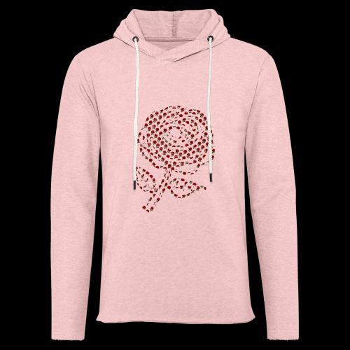 Rose aus Rosen - Leichtes Kapuzensweatshirt Unisex