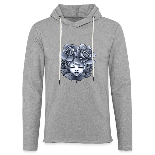 Flower Head - Sweat-shirt à capuche léger unisexe
