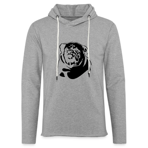 English Bulldog - negative - Kevyt unisex-huppari