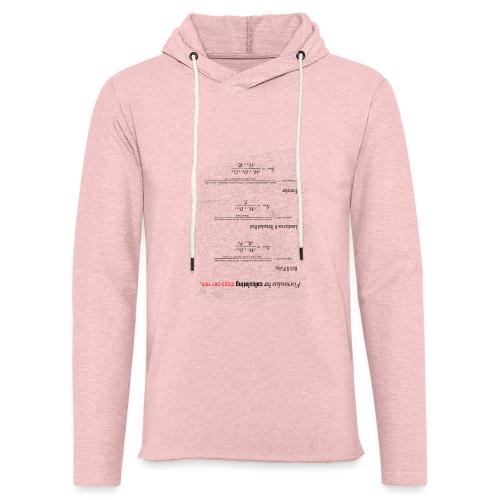 Formulas for calculating steps-per-mm (upturned). - Light Unisex Sweatshirt Hoodie