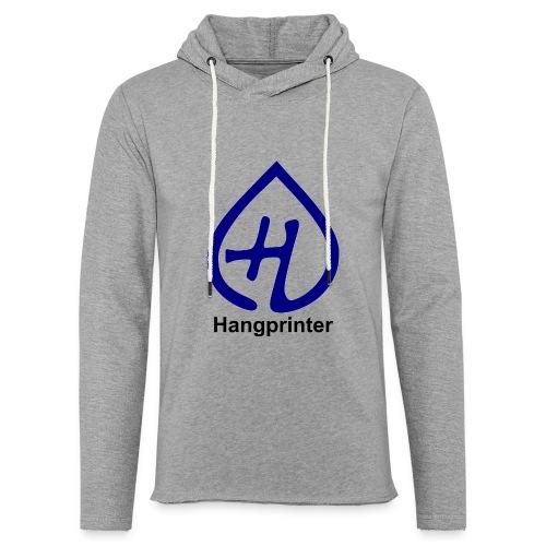 Hangprinter logo and text - Lätt luvtröja unisex
