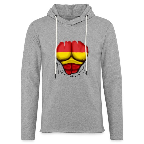España Flag Ripped Muscles six pack chest t-shirt - Light Unisex Sweatshirt Hoodie