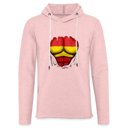 España Flag Ripped Muscles six pack chest t-shirt - Light Unisex Sweatshirt Hoodie
