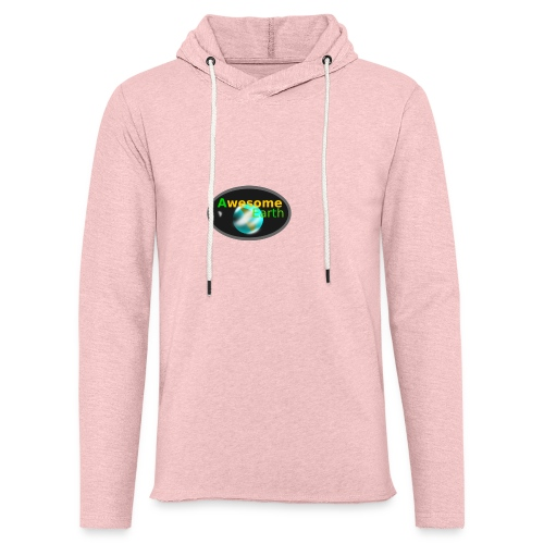 awesome earth - Light Unisex Sweatshirt Hoodie